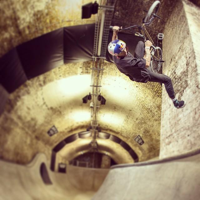 @krisskyle rides the underground. #bmx #HeroTour
