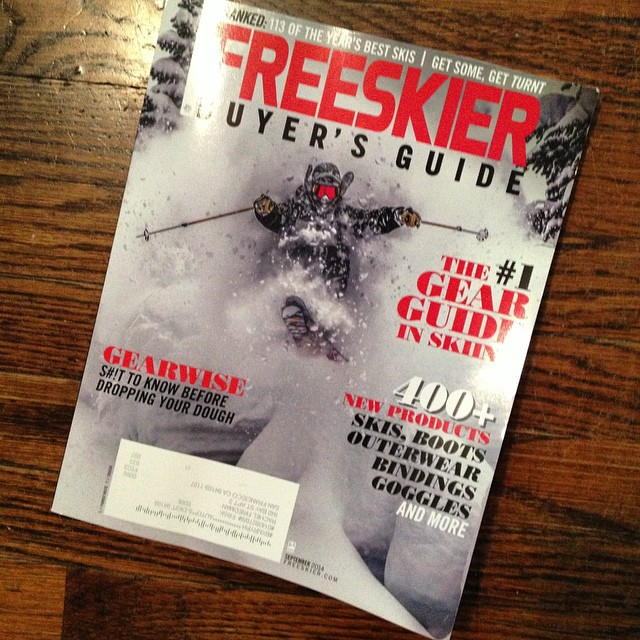 You know #winteriscoming when ... you start getting these in the mail @freeskiermagazine #buyersguide // Share your Winter Is Coming photos with us we'd love to see how you start to get #stoked for the season #freeskier #winter #skiing #snowboarding...