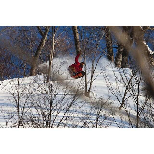 Our trip to Japan had some of the best snow any of us had ever ridden, here is @rakejose421 getting some.