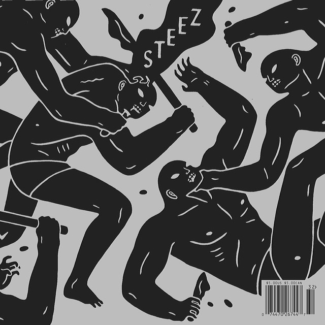 We're honored to release issue 32 online and in print today featuring the work of @cleonpeterson on our new cover javket front and back. Get a copy quick. #issue32 #steezmagazine #cleonpeterson