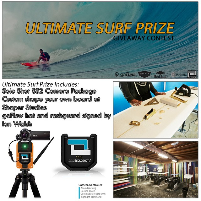 Only a few more days left! You have until the end of the month to win the best Surf Prize Package of the summer! Enter HERE http://goo.gl/rZ1vVz #ultimatesurfprize #shaperstudios #soloshot #ianwalsh