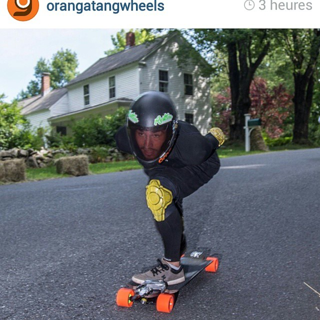 An other @charlesouimet shot from #centralmass5 ! Regram from @orangatangwheels #restlessboards #restlessWIM
