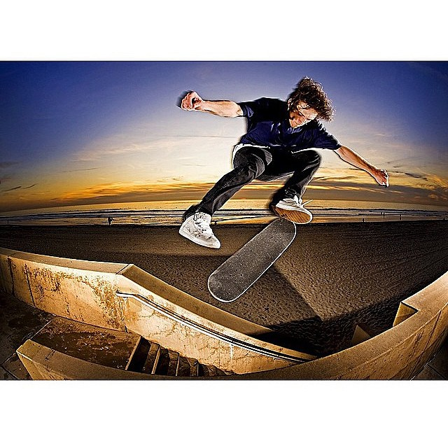 @nickpalmquist with a hefty #bsflip on the beach