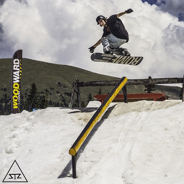 Throwback to @whocutthechez taking full advantage of July shreds // @woodwardcopper was awesome // #stzlife #tbt #woodward #snowboard #woodwardcopper #colorado #summershreds //