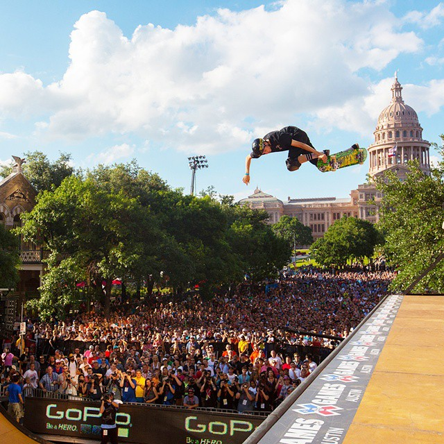 #TBT - In Austin, 20-year-old @jimmy_wilkins became the youngest rider to win X Games gold in Skateboarding Vert. (Photo via @espn_images)