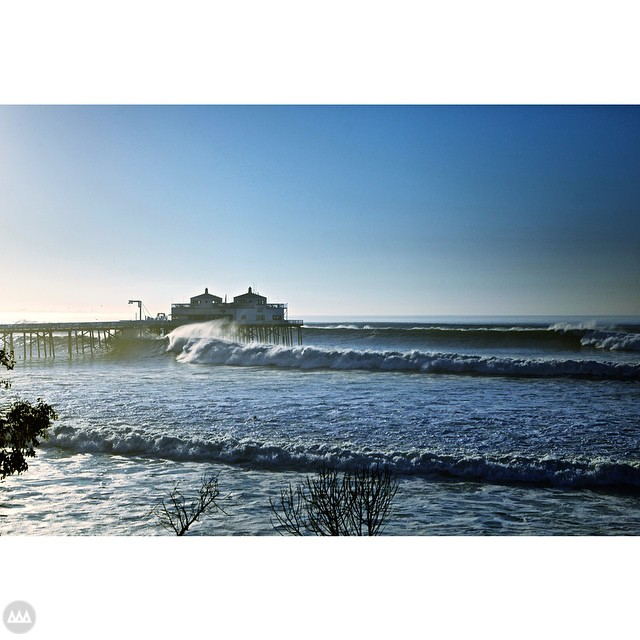 Resident Surfer/Photographer Matt Hoffman (@rockoutthehoff) called in sick yesterday.... Good call. #malibu #pier #epic #swell #barrell #GNARCISSISTIC