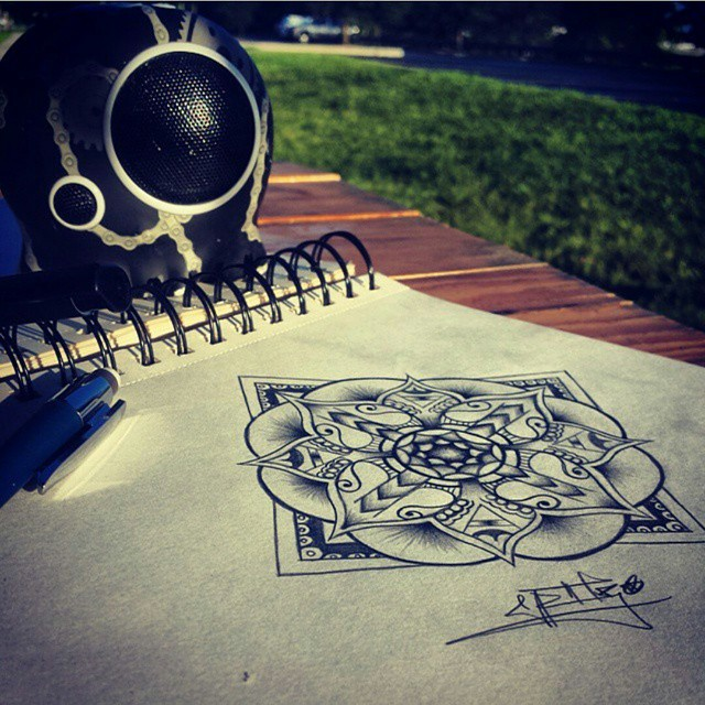 #drawing #isbetterwithmusic #chaingangsta #mandala #flower