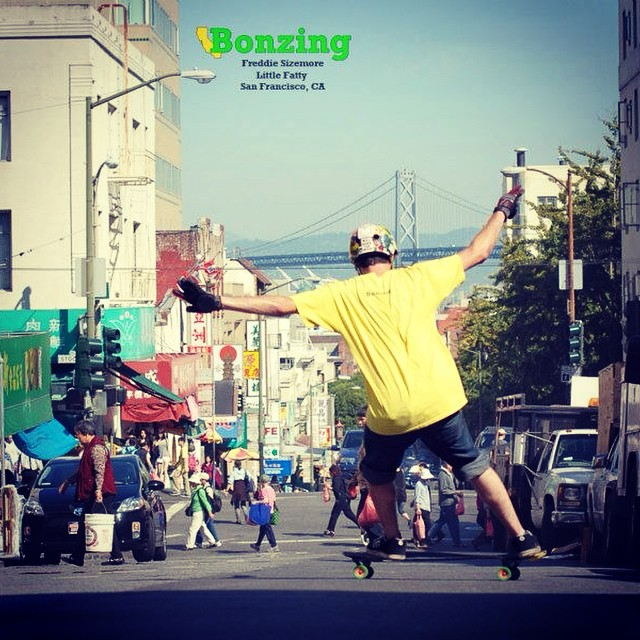 Throwing it back to our first Wallpaper Wednesday ever!  Team rider Dead Fred smashing on the Little Fatty skateboard that we no longer make!  #deadfred #tbt #bonzing #sanfrancisco #wallpaperwednesday #skateboarding #shapers #artists