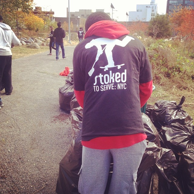 So literal but we clean up parks and we skate them. Why? We're more than skateboarders. We're active citizens in our community. We care. We serve. We're STOKED. #stokedtoserve #nyc #brooklyn #actionempowers