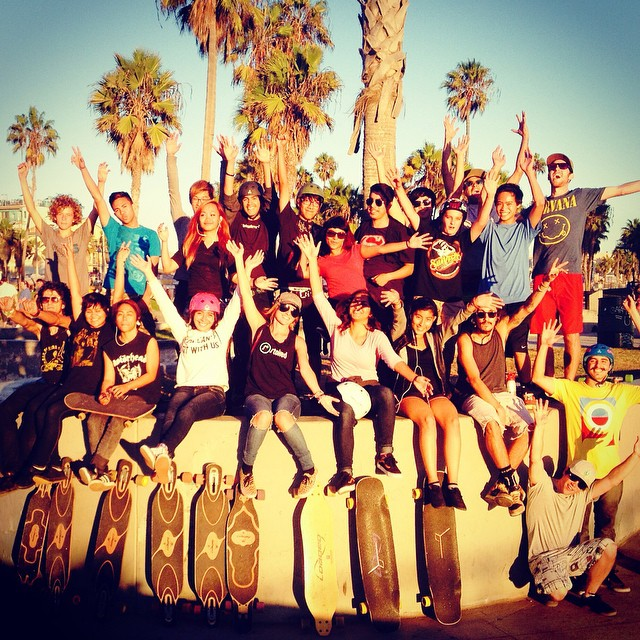 @loadedboards and #stokedla join skate forces for an awesome 6 mile push