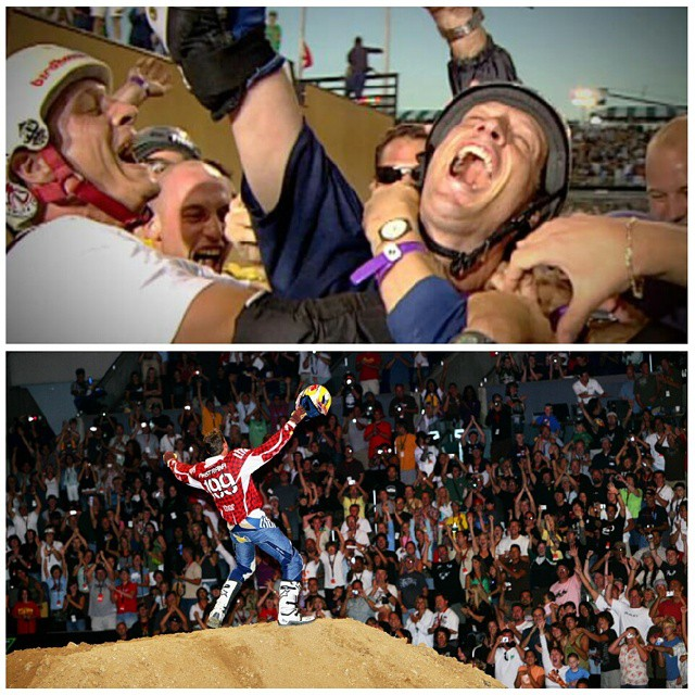 This Sun., we're celebrating 20 Years, 20 Firsts on World of X Games.  Which pioneering moment was your favorite? - @tonyhawk's 900 in 1999 - @travispastrana's Double Backflip in 2006