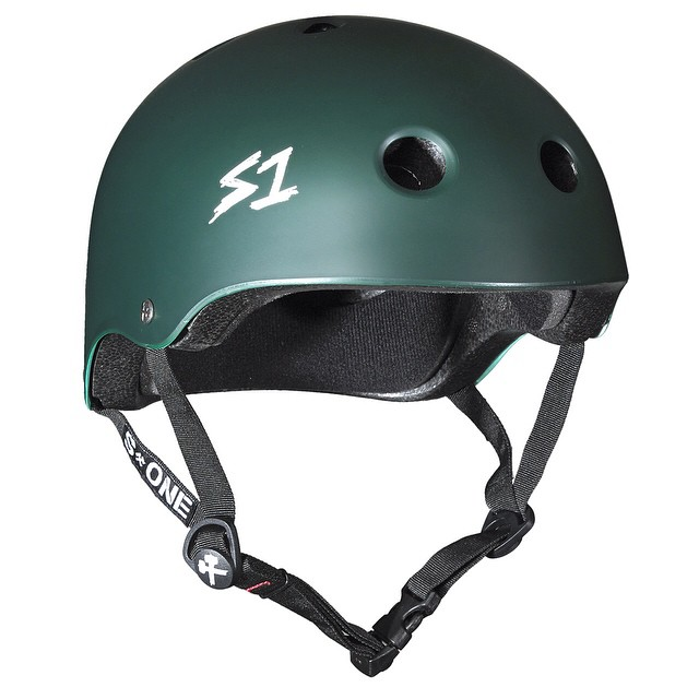 S1 Lifer Helmet Color: Dark Green Matte #skateboarding #s1helmets @s1rollerderby @s1bmx #safer #skatehelmet