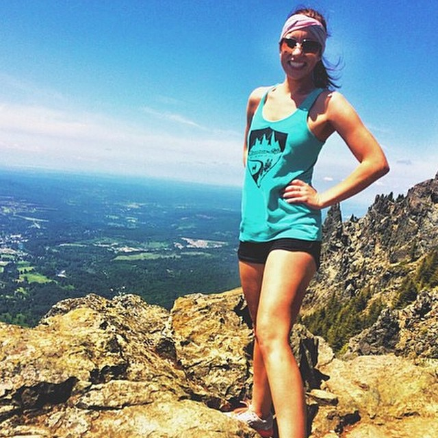 "@misshalimarie hiking #pnw in our women's electric teal racerback ""what's your #mountainlife?"" #mountainwomen #dirtbarbie #hiking #cycling #repelling #rockclimbing #mountainbiking #downhill #flyfishing #kayaking #camping #campvibes #surf #ski..."