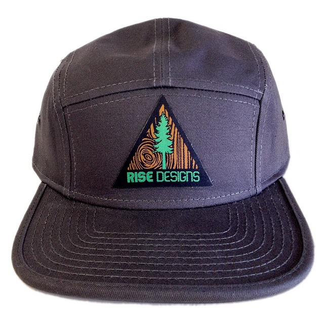 Front view of our new 5 panel hat. #risedesigns #camperhat