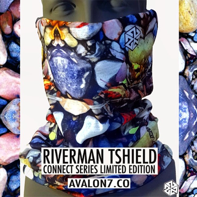 The AV7 Connect Series Tshield facemasks feature kaleidoscopic images from nature. This one was photographed on Trail Creek in Jackson Hole. Now in stock at www.avalon7.co  #avalon7 #liveactivated