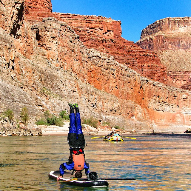 Headstands and Happy places. #grandcanyon @kokatatusa #intothewater #challenge