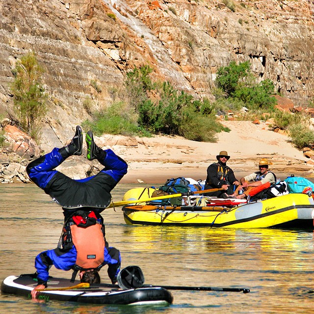 Flip your perspective in the depths of the Grand Canyon. @kokatatusa #intothewater #challenge @halagearsup