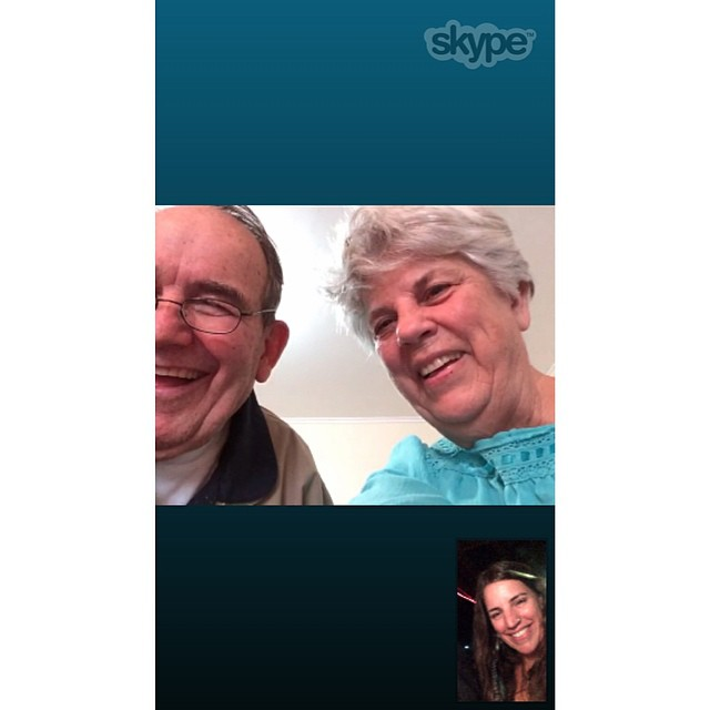 @yoga_girl 'I love you' challenge #yogagirlchallenge. Got to skype with the old parents in New Zealand. Pretty powerful stuff. Can't wait to head on over and enjoy the kiwi life!