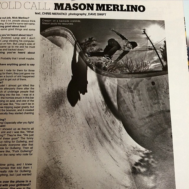 Pick up the new @theskateboardmag an check out the @masonmerlino feature. #bulthelmets #bult