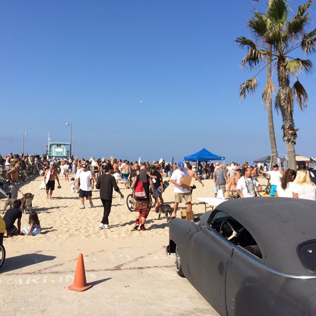 Come down to the pier for the @jayboyadams paddle out happening now. Celebrate the life and style of #jayadams this afternoon too at #Venice skate park. @heidi_lemmon