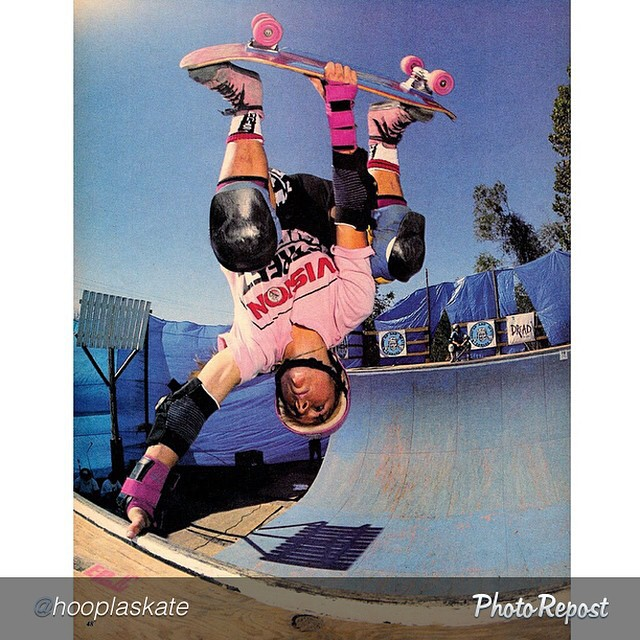 "by @hooplaskate ""#hooplaskate co-founder @cbburnside has been holding it down for decades and paved the way for the girl skaters of today. #fbf invert from 1989 
