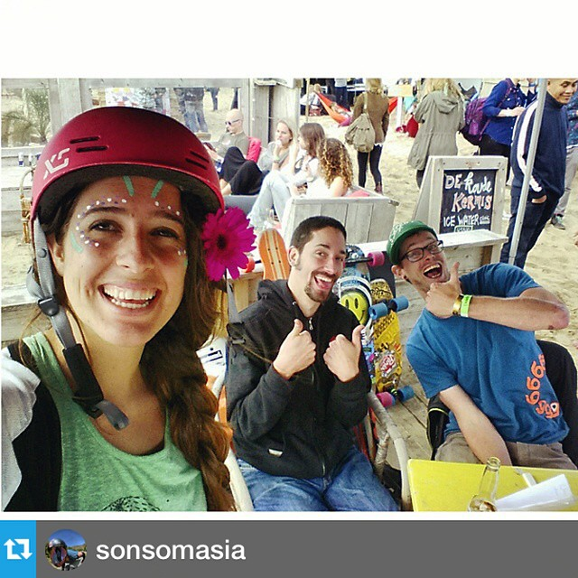 #Repost from @sonsomasia Finding peace and love at the Woodstock Festival in the Netherlands --- Come and visit us at the #Woodstock festival. Teaching clinics with the @sickboardslongboards family. <3 #peace