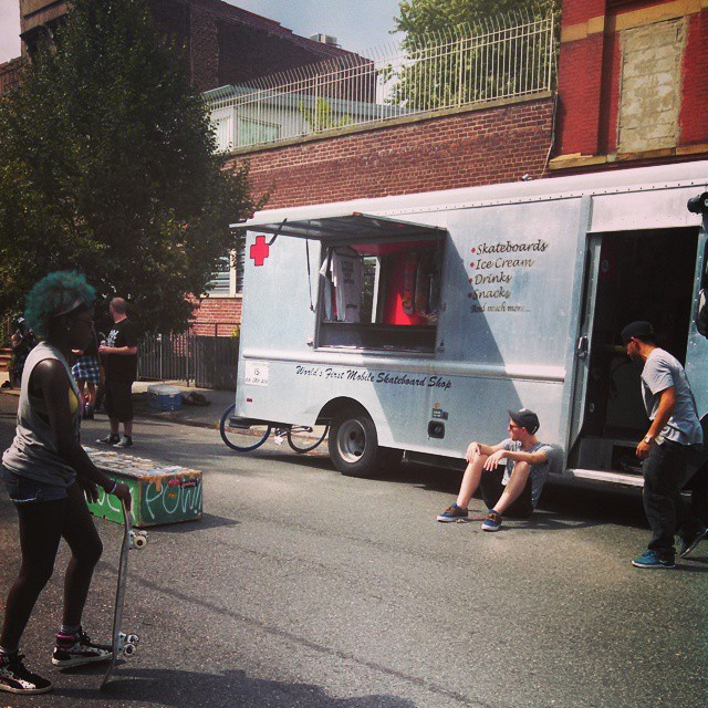 #tretruck here with #gronyc skate zone at Bklyn Bazaar