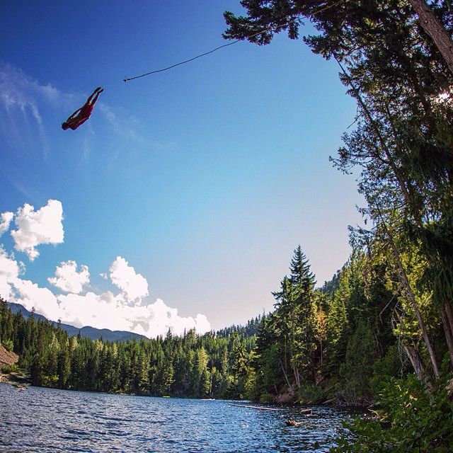 How are you spending your long holiday weekend? #RopeSwing #GetOutside