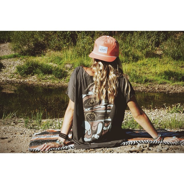 Get creek side like @winterdubs this weekend and sit back and relax in the Desolation Trucker and Eskimo Tee - available online // #tahoemade #gethouthere #