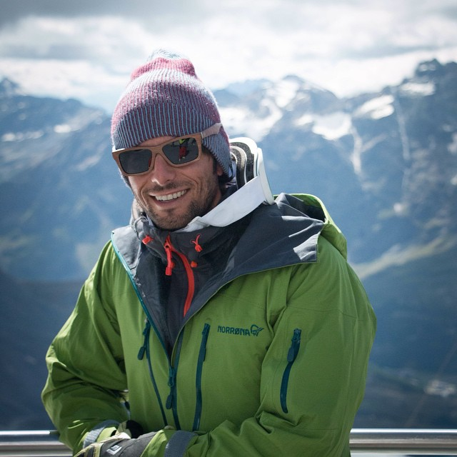 Bosky steep skier Mattia Zambroni with his Bosky sunglasses. We look forward to sponsoring him in his upcoming trip to Antarctica! #bosky