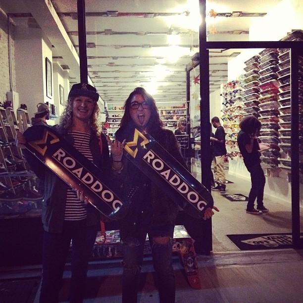 STOKED supporters @caaaaaasey and @_b_sky with their new Road Dog boards! Thanks for the support!
