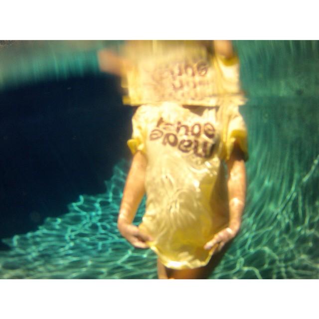 Pool, river, lake or ocean - just get in the water...shirt or no shirt // #tahoemade #getwet #pooldaze #labordayweekend