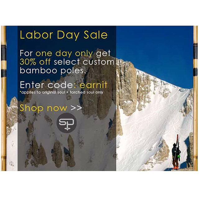 Thanks for working so hard this summer!  Reward yourself by enjoying 30% off select models at our #labordaysale | To order, visit -> www.soulpoles.com