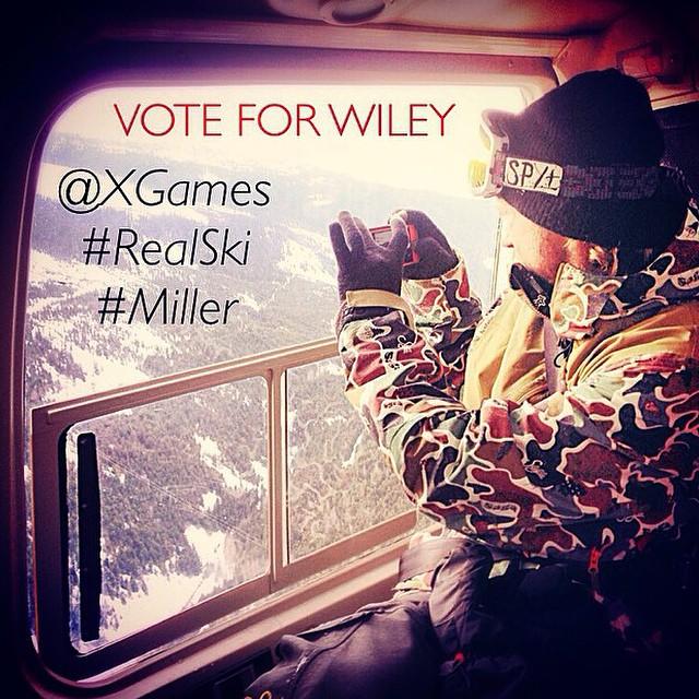 Vote 4 @wileymiller ! #miller #realski @xgames