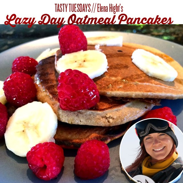 TASTY TUESDAYS // Elena Hight's Oatmeal Pancakes Get your lazy day morning pancake fix from #TeamB4BC rider @elenahight with a fiber-filled twist! www.b4bc.org/blog