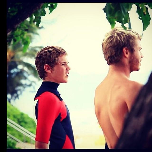 Foto de Feli Suárez por @juanbacagianis #volcomfamily #surf #Hawaii #surf @felisuarez1