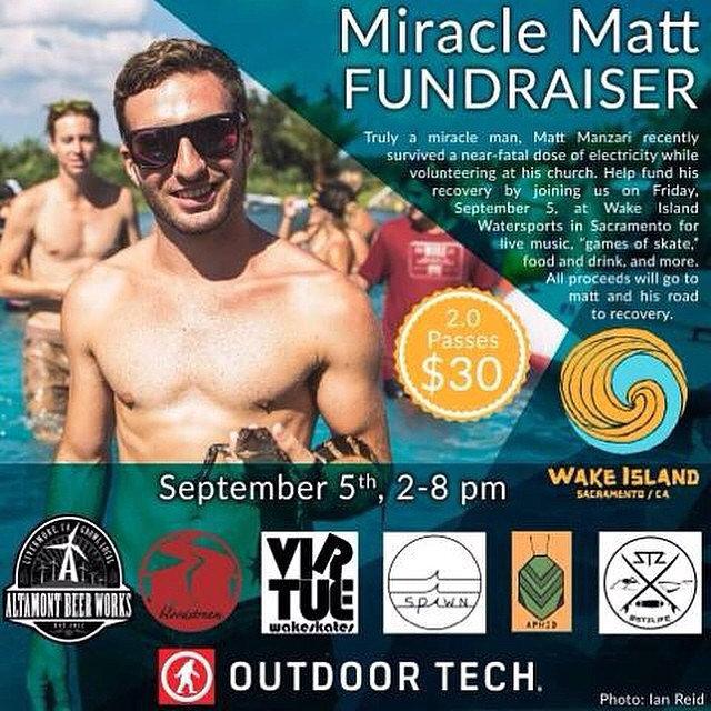 Stoked to have homie and team rider @chaboy_bammer repping for us at such a good event! If you are in the area make it out to @wakeislandwatersports FRIDAY to support #miricalmatt // so awesome to see the wake community come together for each other....