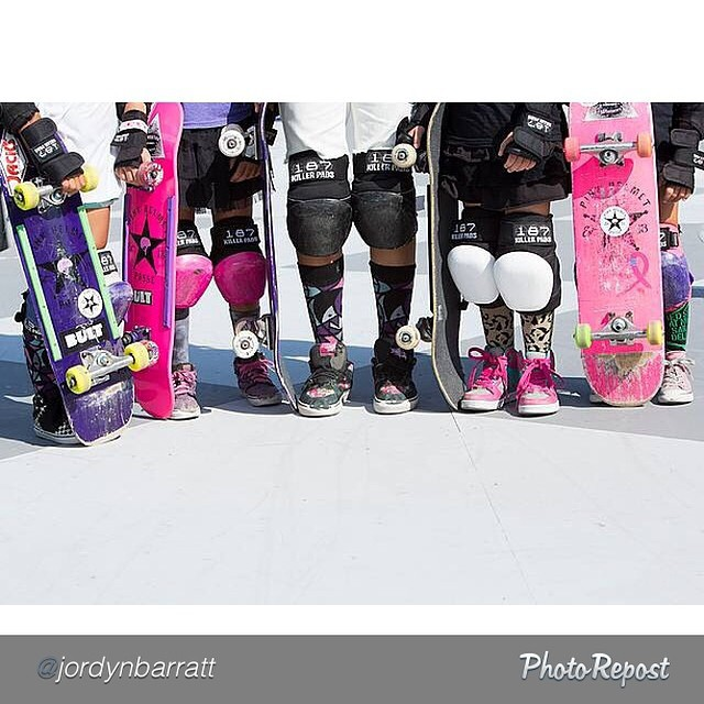 "by @jordynbarratt ""Colourful skater girls..."
