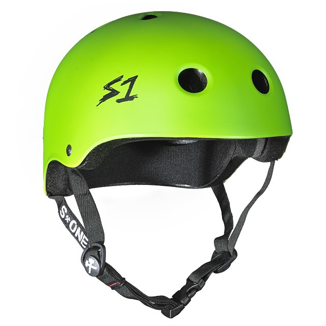 S1 Lifer Helmet Color: Bright Green Matte #multipactcertified #highimpactcertified 5x more protective than regular #skatehelmets #skateboarding #bowlrider #longboarding #bmx #rollerderby #helmet