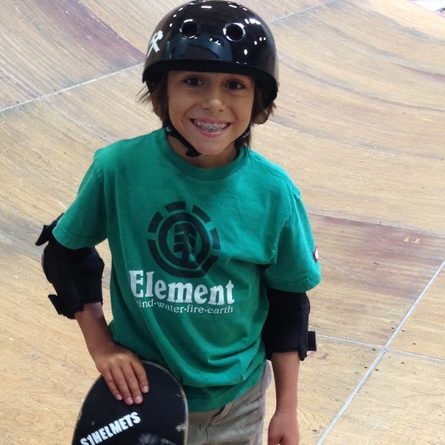 Asher was stoked to #skate #tonyhawk 's #ramp with #kevinstaab. #dreamsession #unreal #skateboarding