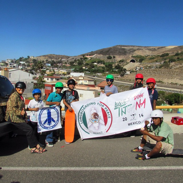 "Michael Brooke, Concrete Publisher and Founder of Longboarding For Peace just sent us this photo from Caesar with Longboarding For Peace, Mexico. This photo was taken on Sunday, at a spot they call ""El Tunnel"" in Playas de Tijuana. The kids were extra..."