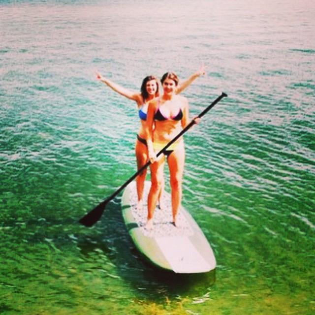 Looks like a party SUP to me! #tagteam #SUP #bikini #surf #canada Thanks @jenbabic !