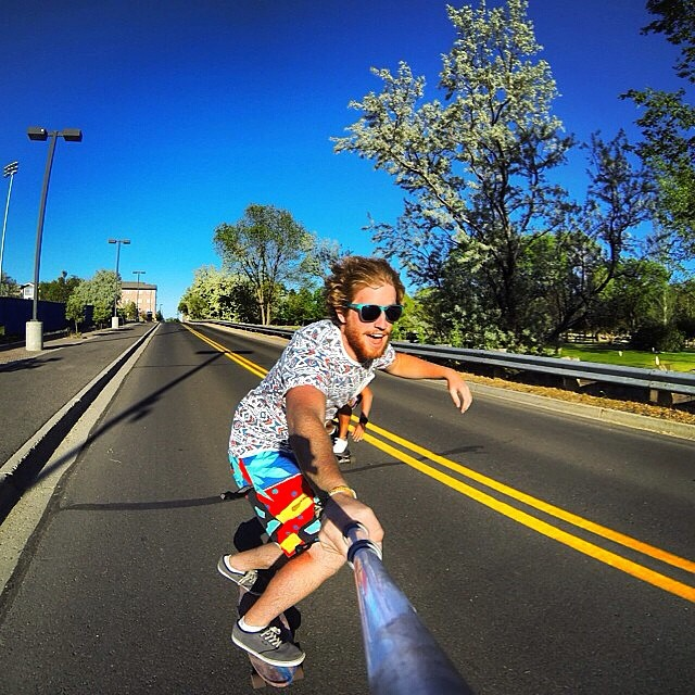 It feels like this | #LifesABeach #EndlessSummer #Kameleonz #GoPro #GoPole #Longboarding pic by @bancakkes