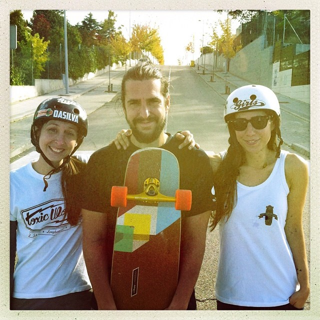 Yesterday @jackymadenfrost @chus_asensio & @valeriakechichian had a revival skate sess with #LGCOpen Director-Genius @danieletura who loves his new #tesseract courtesy of @loadedboards @pablocastror! Big ups for #loadedboards for all the love and...