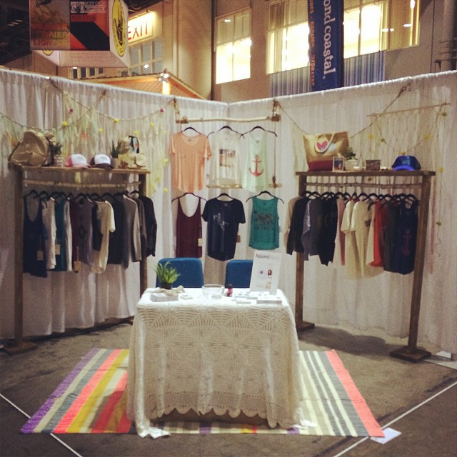 All set up for #surfexpo #orlando Booth #907! #wearthecalidream #luvsurfapparel #surfexpo2014