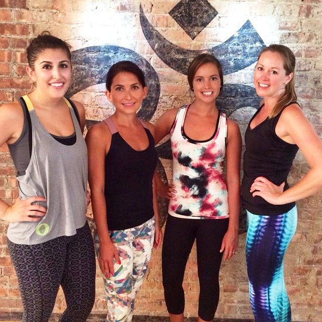 A #behindthescnes pic of our #activewear video shoot from yesterday with these lovely ladies! #bts #video #photoshoot #yoga #pilates #style @HHFJerseyCity @leighfleet #schmidtlindsay @yelda223 @rcjermakian