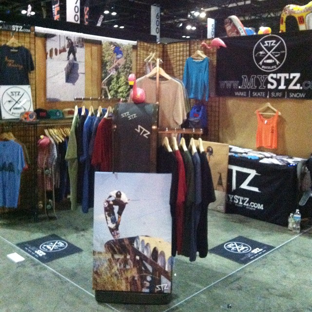 Throwback to setting up for #surfexpo last year! Such a rad time and looking forward to the January show // #stzlife #orlando #florida #tbt #wakeboard #skateboard #surf #snowboard
