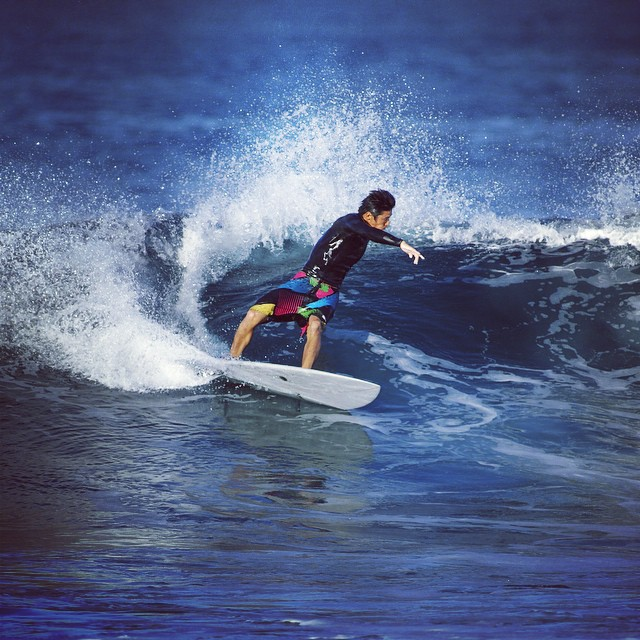 Ryuma on his 5'6 PCH  #awesome #awesomesurfboards #madeincalifornia #sleds #surfing #surfboards#PCH