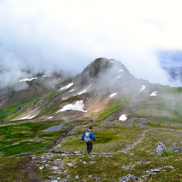 The Salute in Juneau, AK on the ridge trail off Mt. Juneau to Granite Creek Basin. PC: Catherine Huskins #alaska #mhmgear #salute