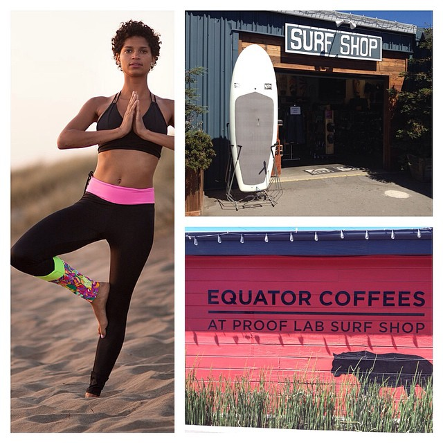 Pick up some kinda fancy #surf #leggings at @prooflab in Marin! #bikini #surfshop #highway1 #yay!!